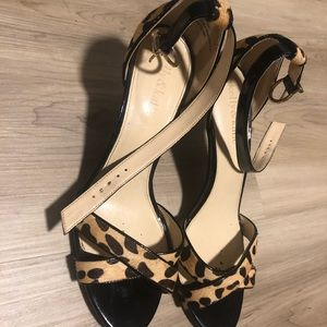 Leopard hair Kelly and Katie sandals size 8